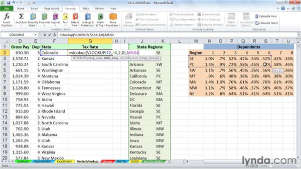 Nesting LOOKUP functions: Excel 2010: Advanced Formulas and Functions