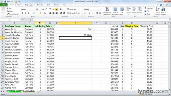 Tabulating information on multiple criteria with COUNTIFS, SUMIFS, and AVERAGEIFS: Excel 2010: Advanced Formulas and Functions