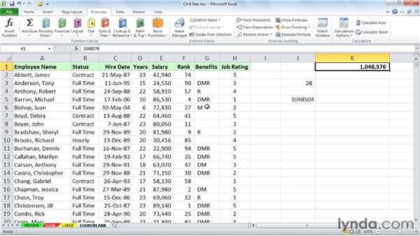 Tabulating blank cells with COUNTBLANK: Excel 2010: Advanced Formulas and Functions