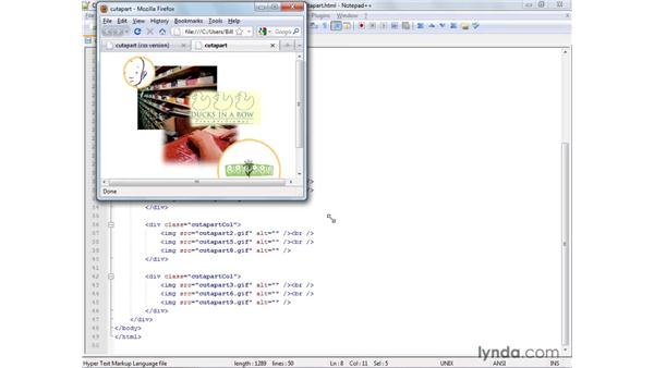 Reviewing an alternative solution using CSS: XHTML and HTML Essential Training