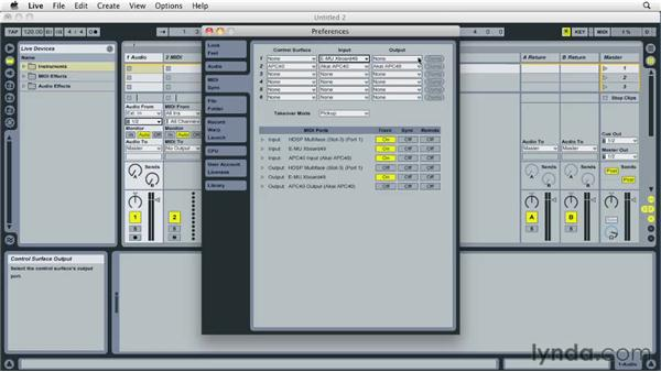 Setting up MIDI preferences: Ableton Live 8 Essential Training