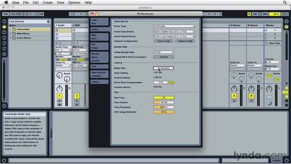 Optimizing performance: Ableton Live 8 Essential Training