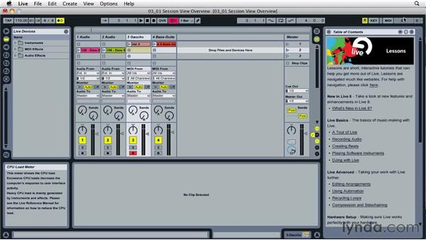Understanding Session view: Ableton Live 8 Essential Training