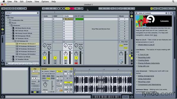 Working with Live clips: Ableton Live 8 Essential Training