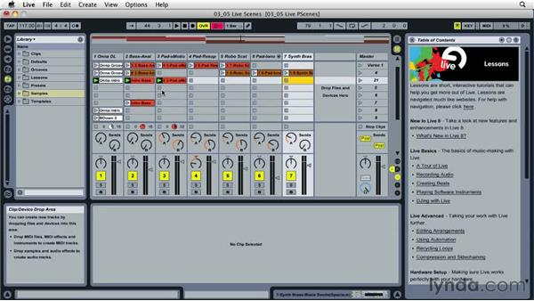 Working with Live scenes: Ableton Live 8 Essential Training