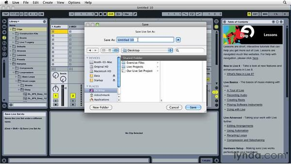 Building Live Sets and projects: Ableton Live 8 Essential Training