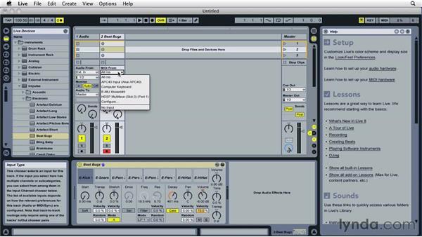 Preparing to record MIDI: Ableton Live 8 Essential Training