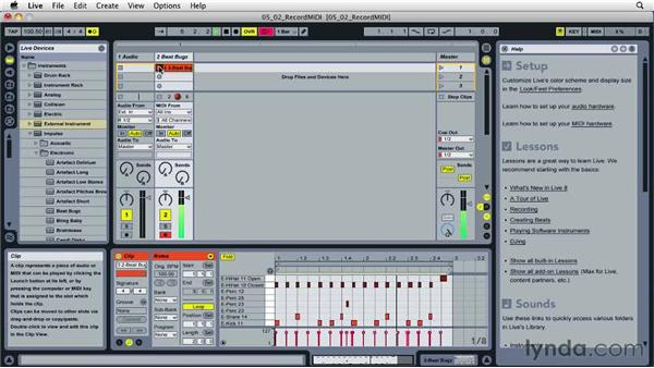 Recording and overdubbing MIDI: Ableton Live 8 Essential Training
