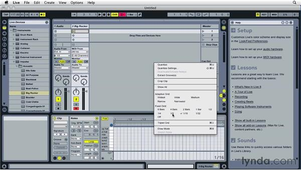 Working with alternate MIDI entry methods: Ableton Live 8 Essential Training