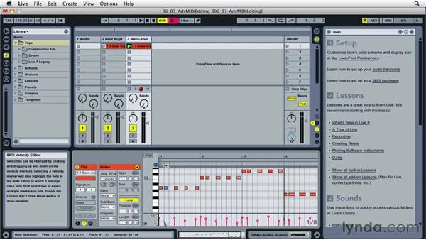 Advanced MIDI editing: Ableton Live 8 Essential Training
