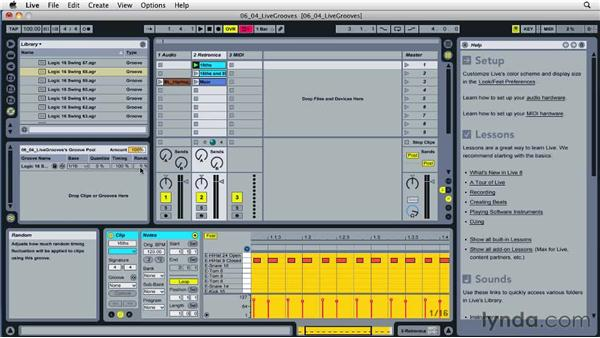 Setting up groove in editing: Ableton Live 8 Essential Training