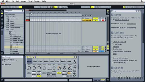 Recording in Arrangement view: Ableton Live 8 Essential Training