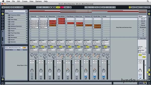 Understanding Live's mixer: Ableton Live 8 Essential Training