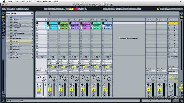 Grouping tracks: Ableton Live 8 Essential Training