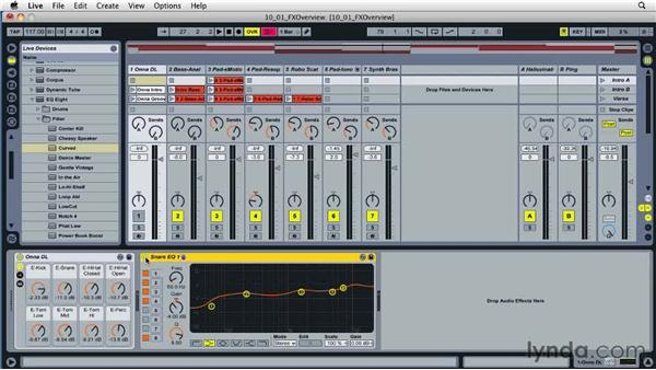 Working with effect devices: Ableton Live 8 Essential Training