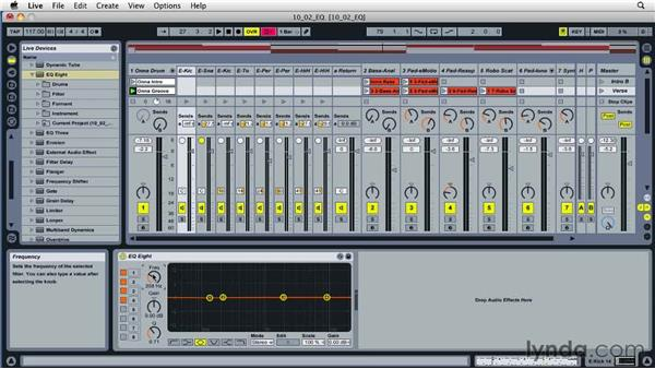 Understanding EQ and filters: Ableton Live 8 Essential Training
