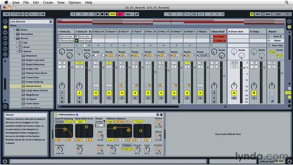 Using reverb effectively: Ableton Live 8 Essential Training