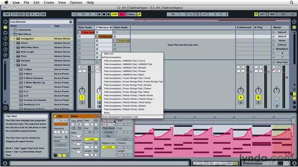 Understanding the power of clip envelopes: Ableton Live 8 Essential Training