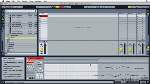 Creating tracks that loop smoothly: Ableton Live 8 Essential Training