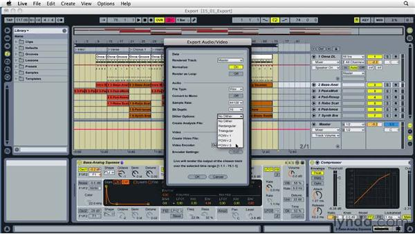 Exporting audio: Ableton Live 8 Essential Training
