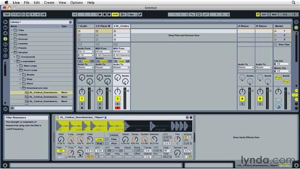 Working with the Simpler virtual instrument: Ableton Live 8 Essential Training