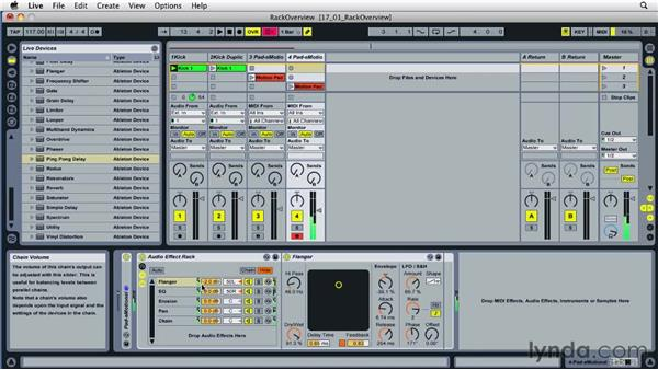 Overview of Live racks: Ableton Live 8 Essential Training
