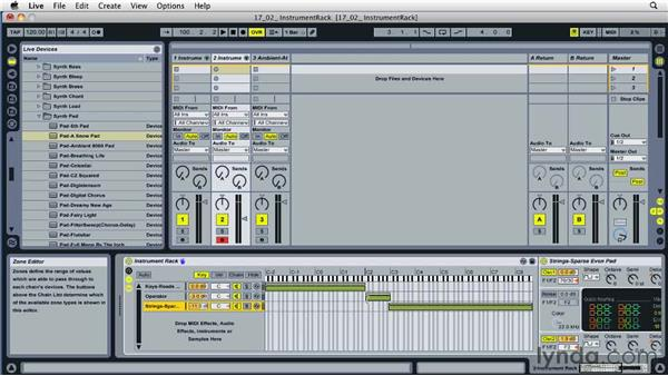 Combining instruments and effects into a single device: Ableton Live 8 Essential Training