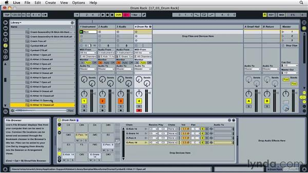 Adding effects with Drum Rack: Ableton Live 8 Essential Training