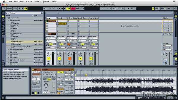 Preparing audio clips with the Warp tool: Ableton Live 8 Essential Training