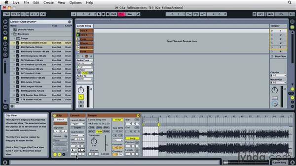 Triggering clips using follow actions: Ableton Live 8 Essential Training