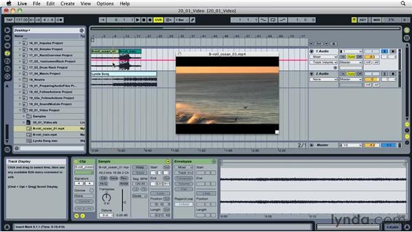 Working with video files: Ableton Live 8 Essential Training