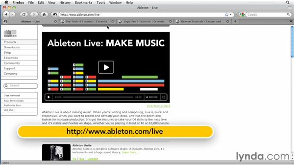 Further Recommendations: Ableton Live 8 Essential Training