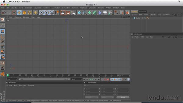 Navigating using a three-button mouse and keyboard shortcuts: CINEMA 4D R12 Essential Training