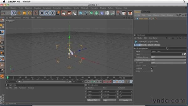 Touring the interface: CINEMA 4D R12 Essential Training