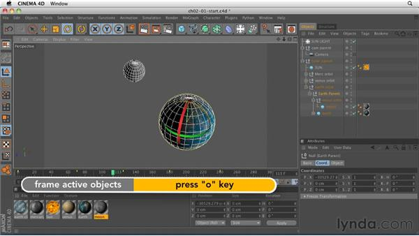 Exploring the importance of object hierarchy: CINEMA 4D R12 Essential Training