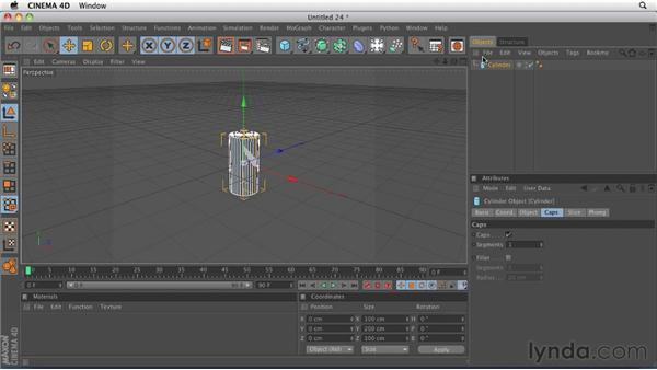 Creating, selecting, and transforming objects: CINEMA 4D R12 Essential Training