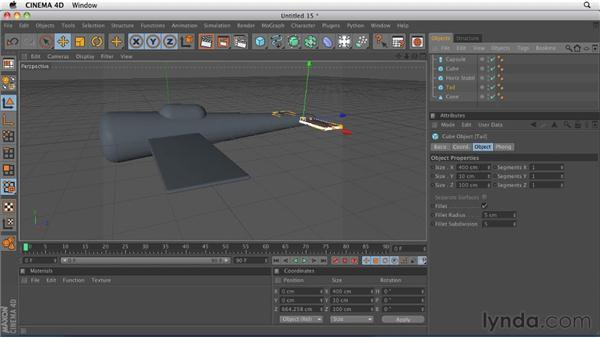 Creating a basic model with primitive and null objects: CINEMA 4D R12 Essential Training