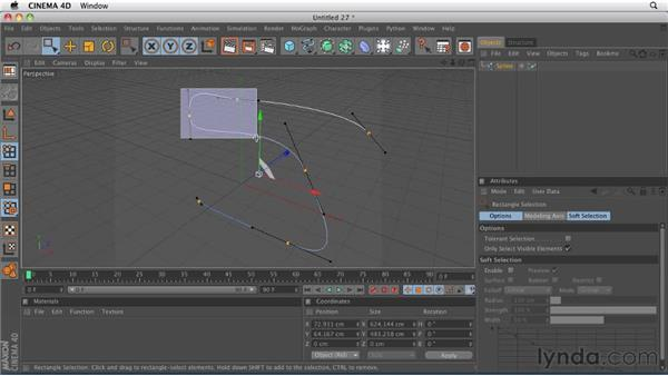 Selecting and transforming points on a spline: CINEMA 4D R12 Essential Training