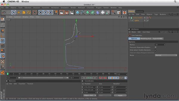 Modeling with splines: Lathe NURBS: CINEMA 4D R12 Essential Training