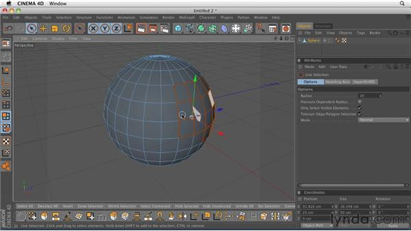Modeling with the Extrude tool: CINEMA 4D R12 Essential Training