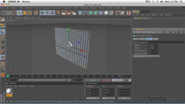 Organic modeling: Setting up a scene and reference images: CINEMA 4D R12 Essential Training