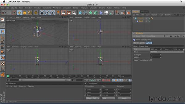Working with deformers: CINEMA 4D R12 Essential Training