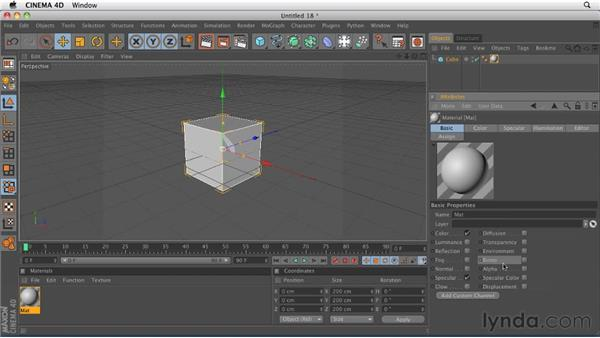 Understanding material channels: CINEMA 4D R12 Essential Training