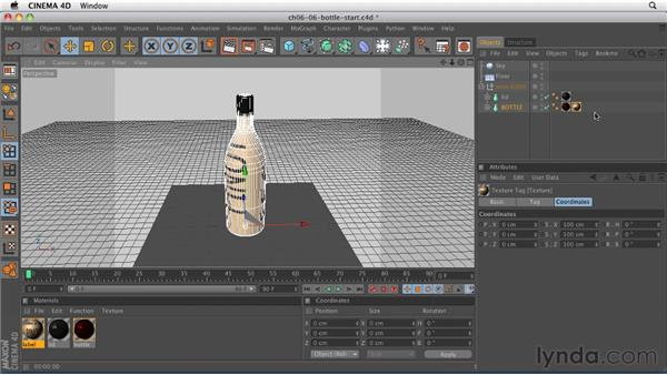 Using alpha channels to create a label: CINEMA 4D R12 Essential Training