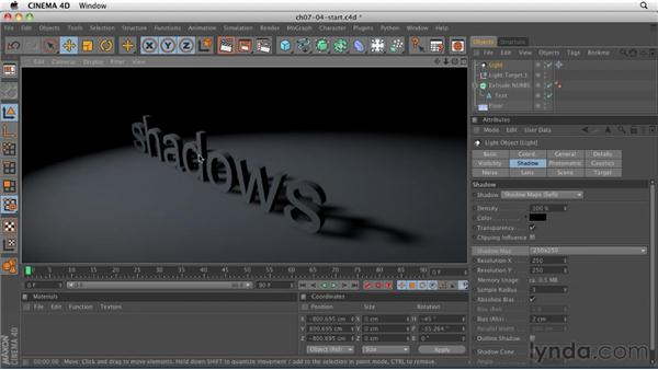 Creating and manipulating shadows: CINEMA 4D R12 Essential Training