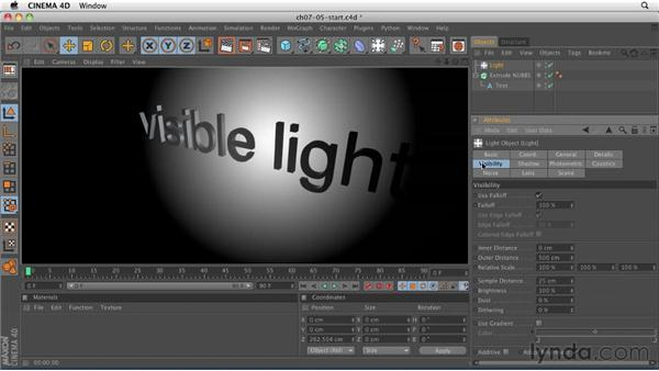Creating light rays with visible light: CINEMA 4D R12 Essential Training