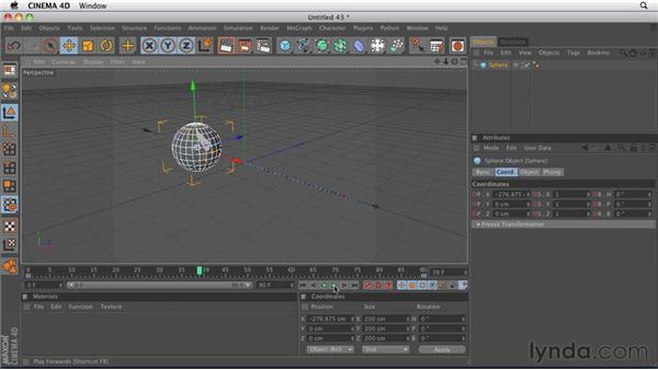 Understanding keyframe animation: CINEMA 4D R12 Essential Training