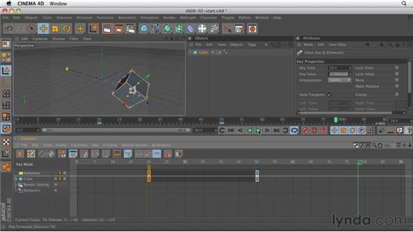 Animating in the Timeline: CINEMA 4D R12 Essential Training