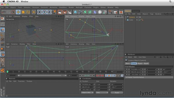 Understanding the differences between the Editor Camera and a camera object: CINEMA 4D R12 Essential Training
