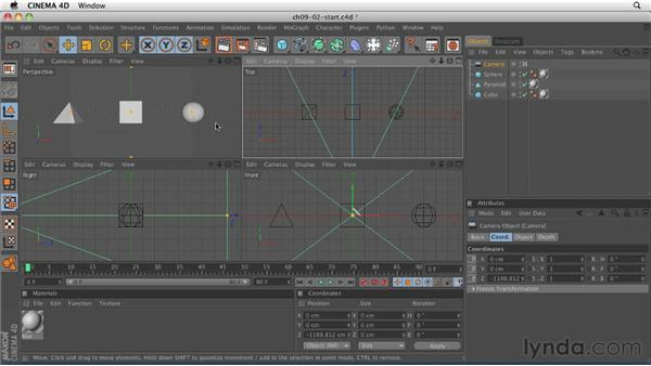 Exploring field of view and aspect ratio: CINEMA 4D R12 Essential Training